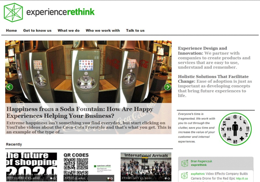 A great web design by Experience Rethink, Atlanta, GA: