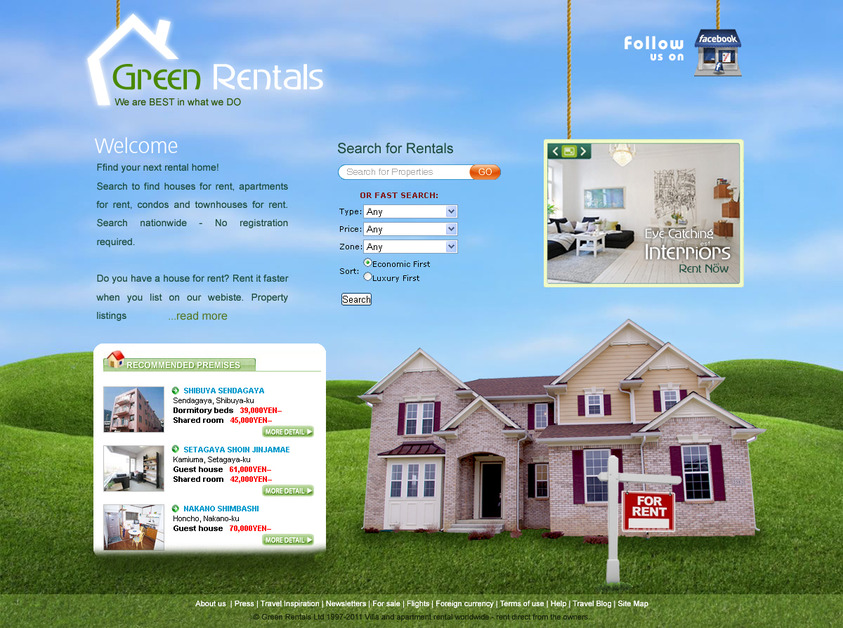 A great web design by TariqMajeed.com, Karachi, Pakistan: Website, Other, Real Estate , Design Only