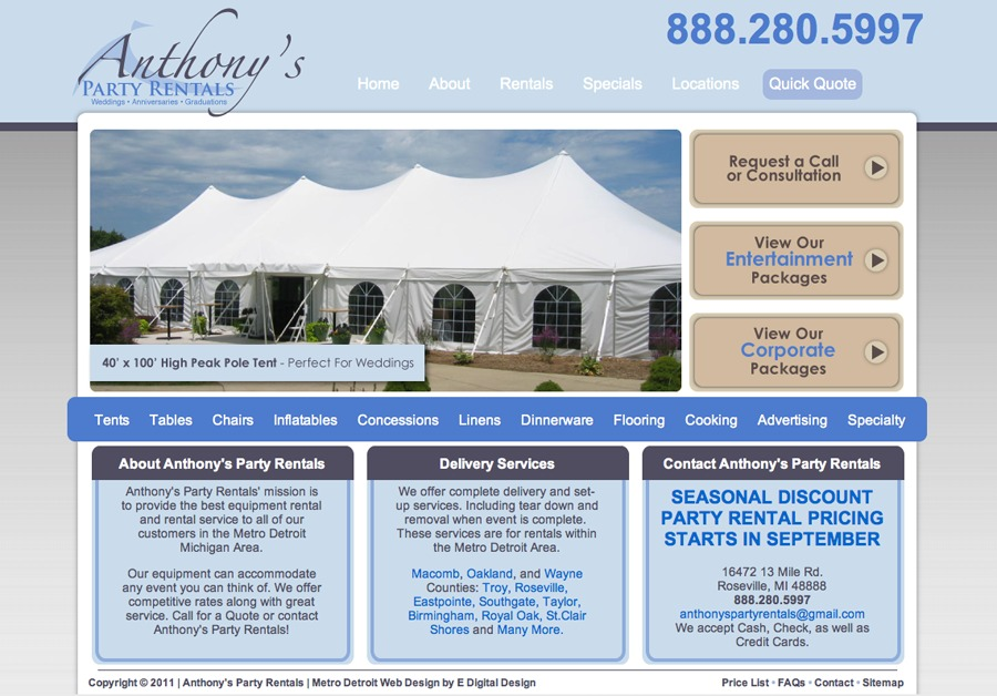 A great web design by E Digital Design, Detroit, MI: