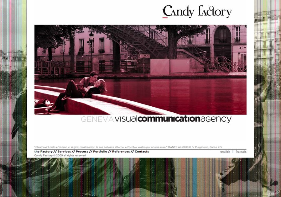 A great web design by Candy Factory Sàrl // Visual Communication Agency, Geneva, Switzerland: