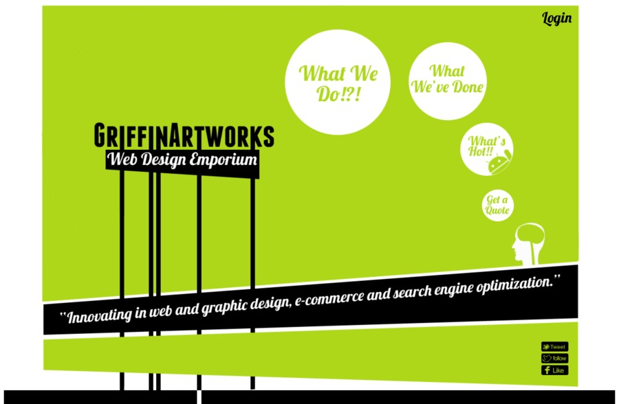 A great web design by GriffinArtworks, Bristol, United Kingdom: