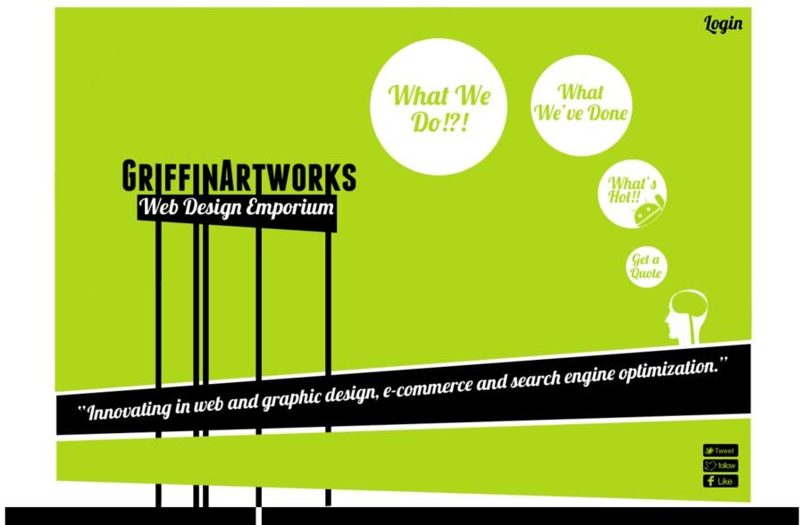 A great web design by GriffinArtworks, Bristol, United Kingdom: