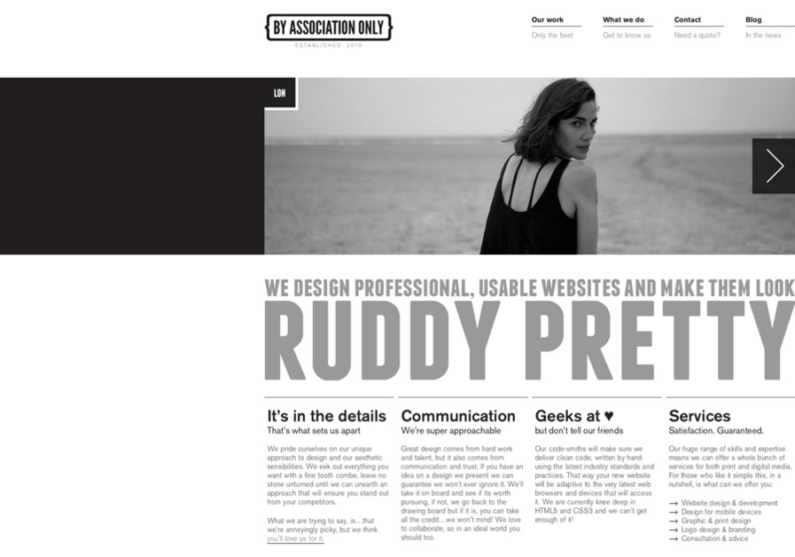 A great web design by By Association Only, Hereford, United Kingdom: