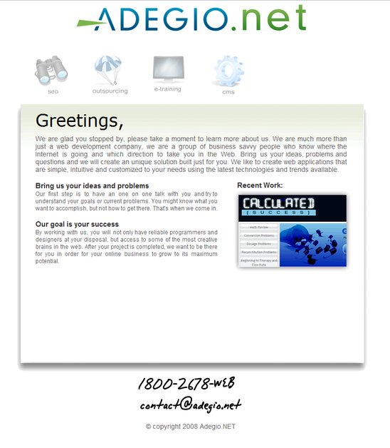 A great web design by Adegio.NET, Dallas, TX: