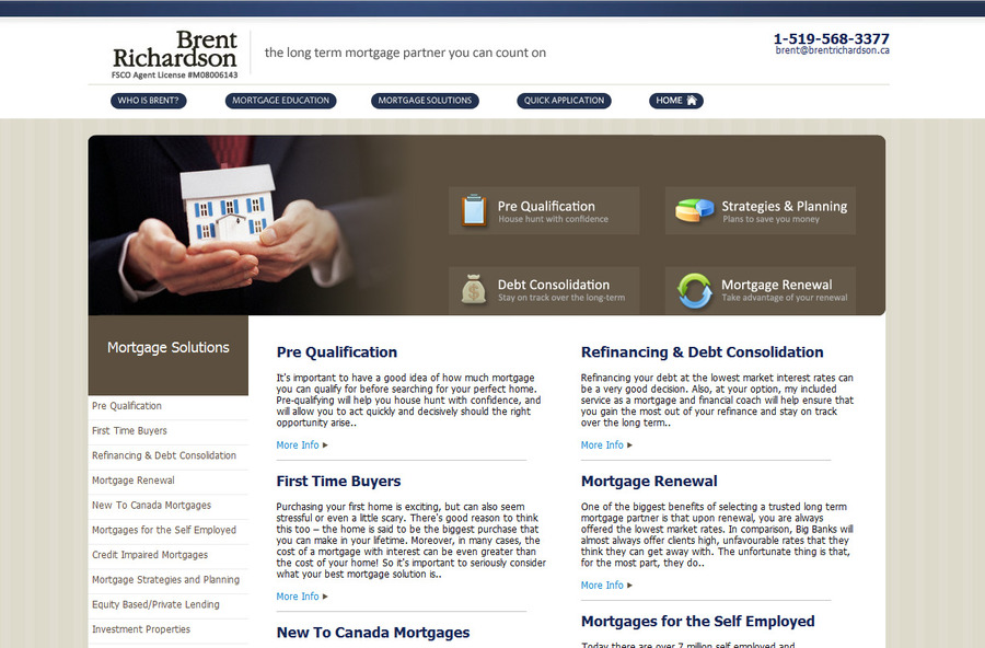 A great web design by Graham Scott Thomas, Ottawa, Canada: