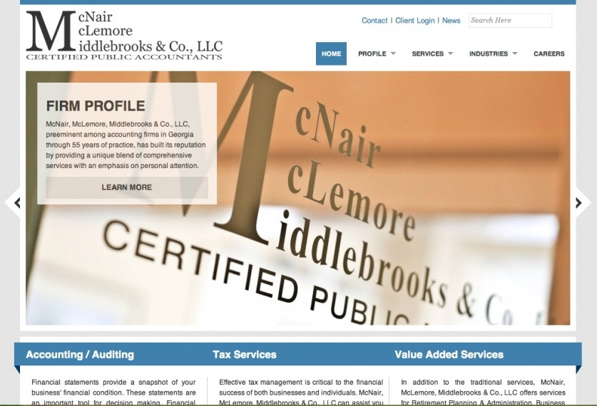 A great web design by JnA Corporate Designs, Macon, GA: