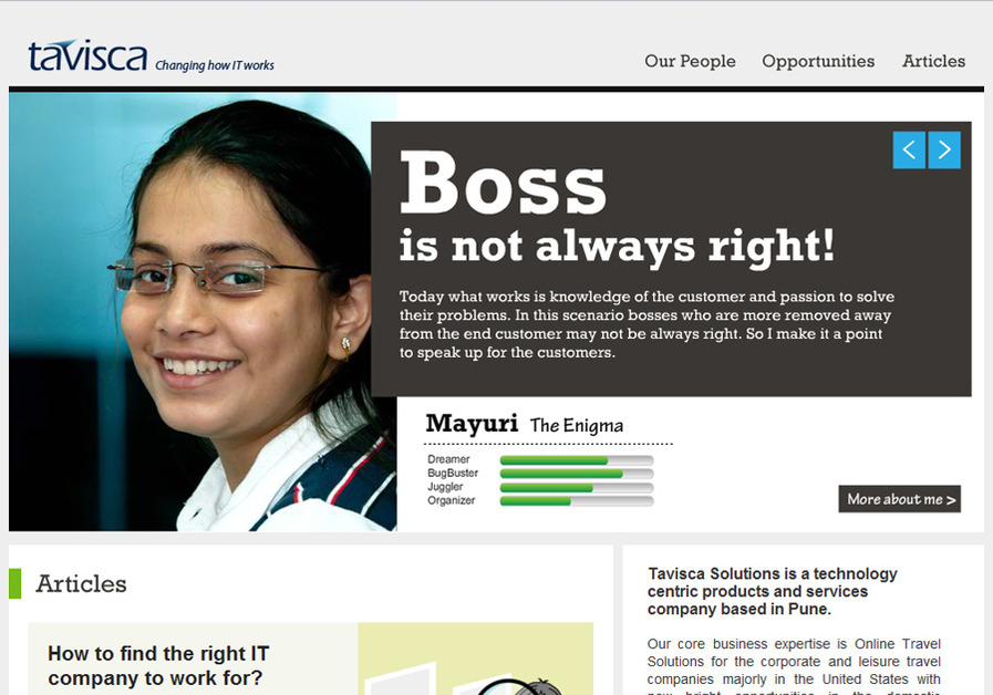 A great web design by Iternia, Pune, India: