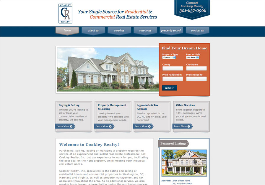 A great web design by Blue Corona, Washington DC, DC: