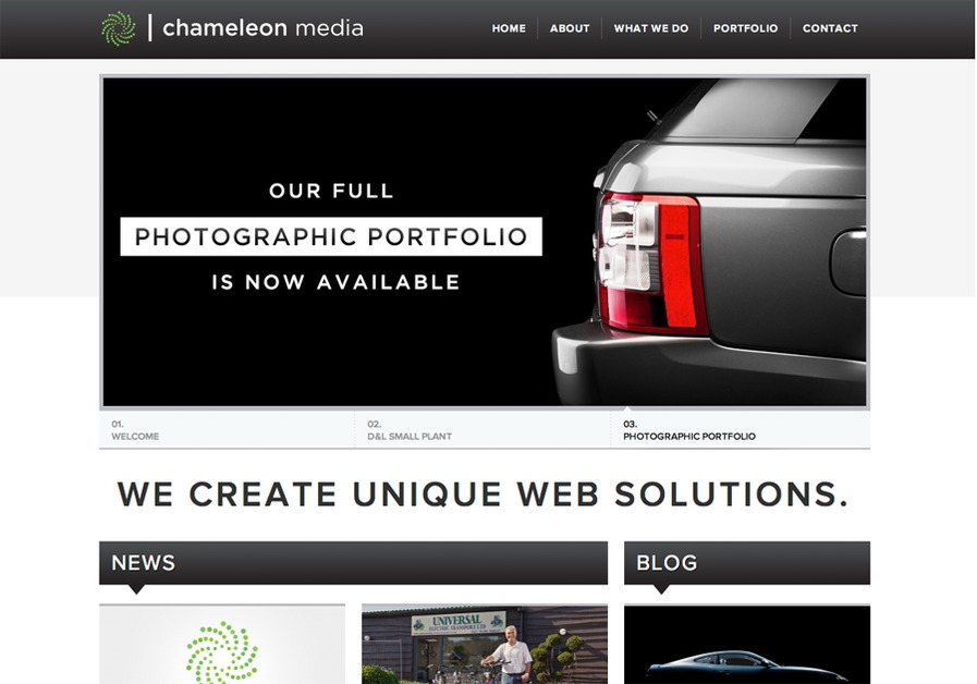 A great web design by Chameleon Media, Hampshire, United Kingdom: