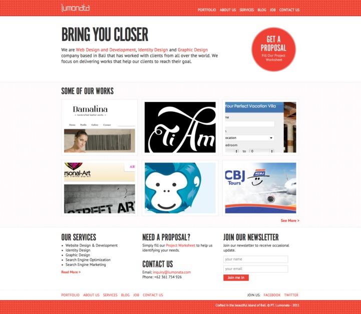 A great web design by Lumonata, Bali, Indonesia: