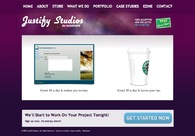 A great web design by Justify Studios, Indianapolis, IN: