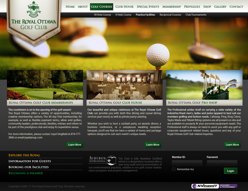 A great web design by N-VisionIT Interactive, Ottawa Ontario, Canada:
