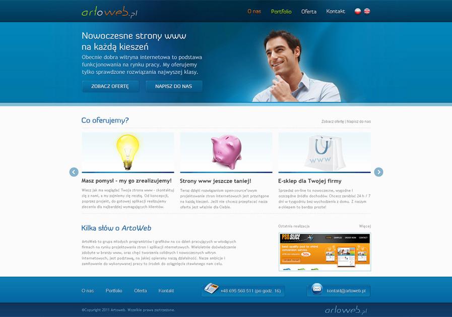 A great web design by Patryk Wierzchoś, Cracow, Poland: