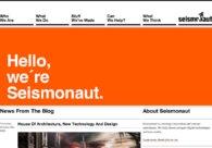 A great web design by Seismonaut, Aarhus, Denmark: