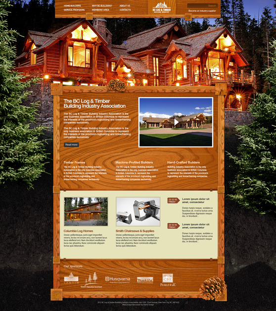A great web design by Flame Design, Vancouver, Canada: