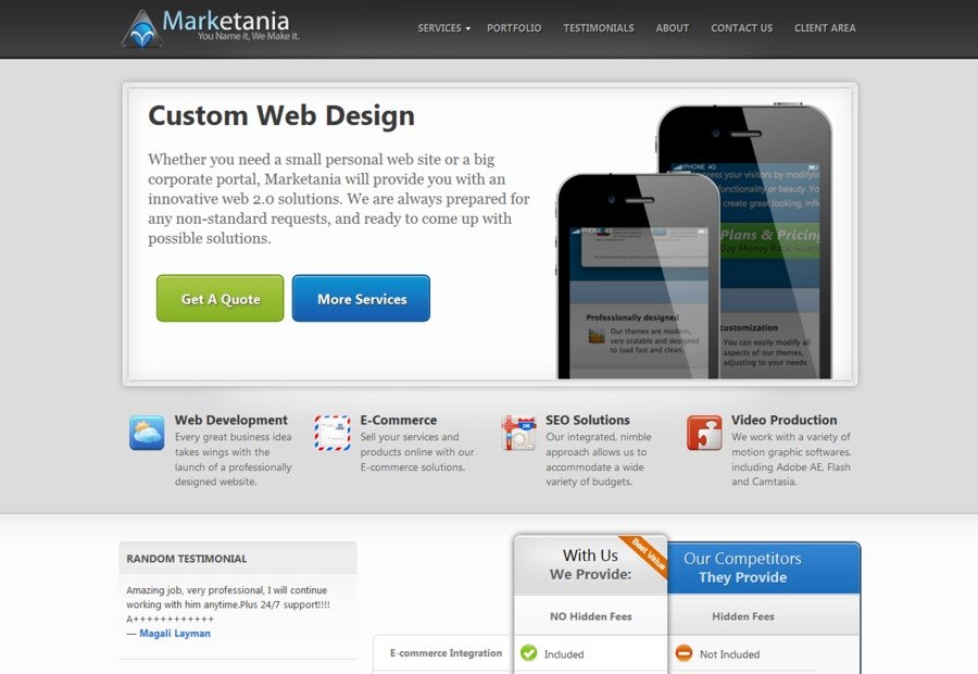A great web design by Marketania.com, Washington DC, DC: