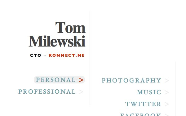 A great web design by Tom Milewski, Philadelphia, PA: