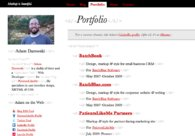 A great web design by Adam Darowski, Boston, MA: