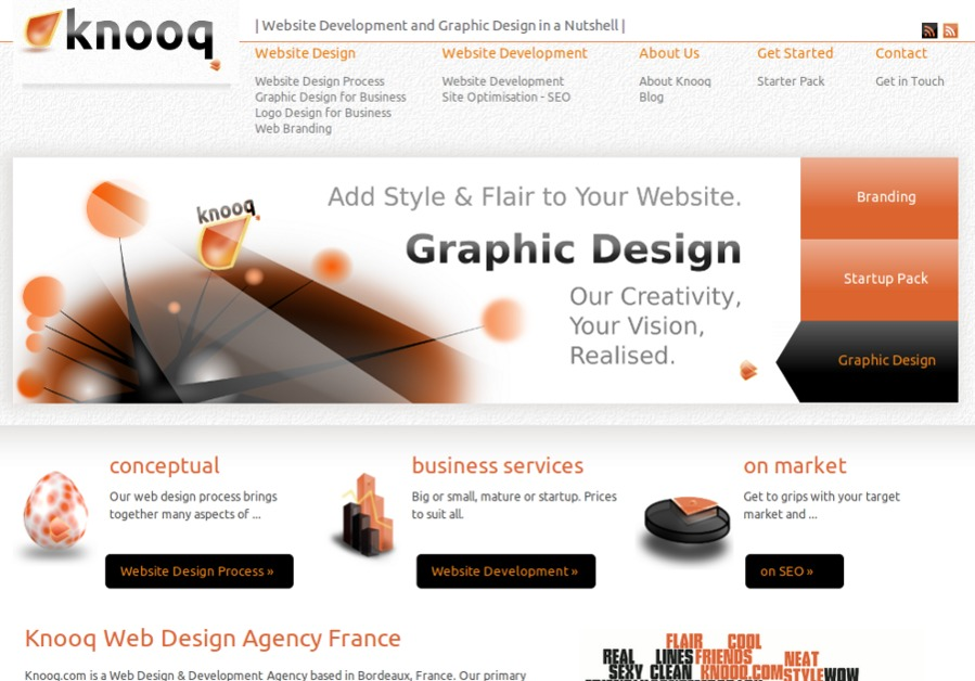 A great web design by Knooq, Bordeaux, France: