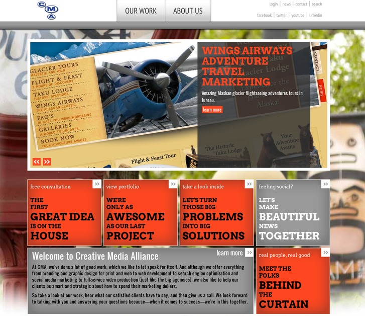 A great web design by Creative Media Alliance, Seattle, WA: