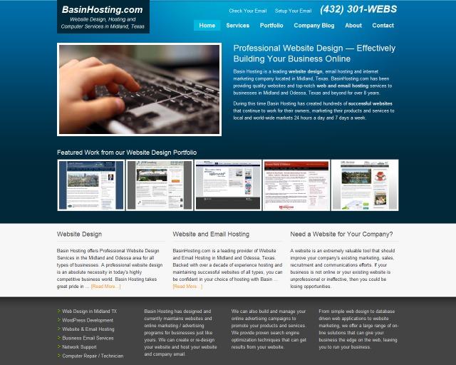 A great web design by BasinHosting.com, Midland, TX: