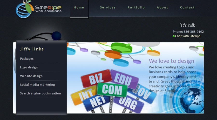 A great web design by Siteripe Web Solutions, Pitman, NJ: