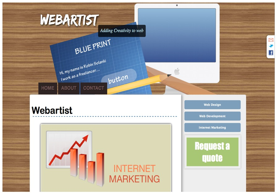 A great web design by Webartist, Mumbai, India:
