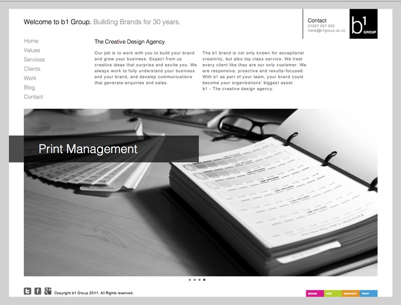 A great web design by B1 Group, Birmingham, United Kingdom: