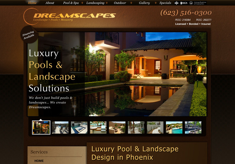 A great web design by Zenuity, Scottsdale, AZ: