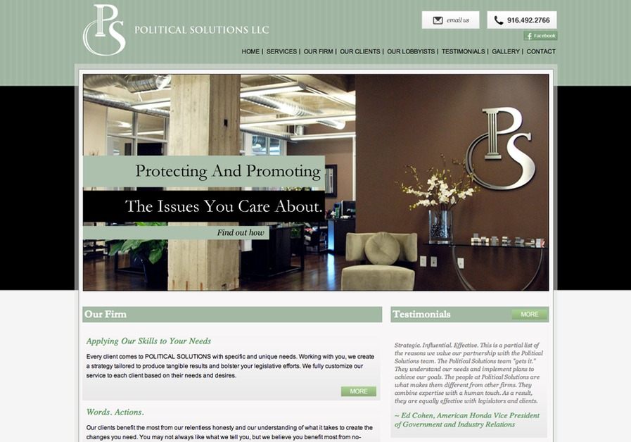 A great web design by Dynamic Vision, Inc., Los Angeles, CA: