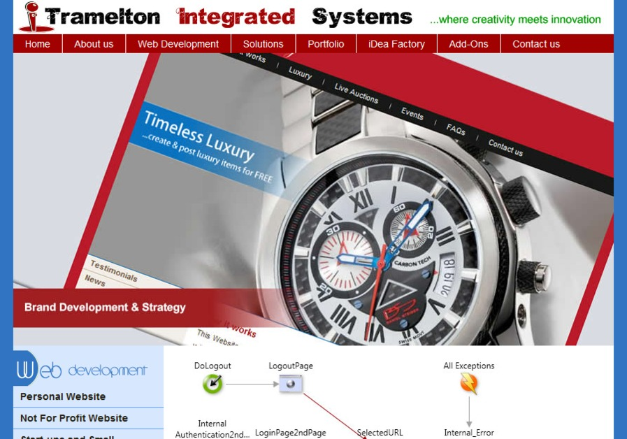 A great web design by Tramelton Integrated Systems, Rochester, NY: