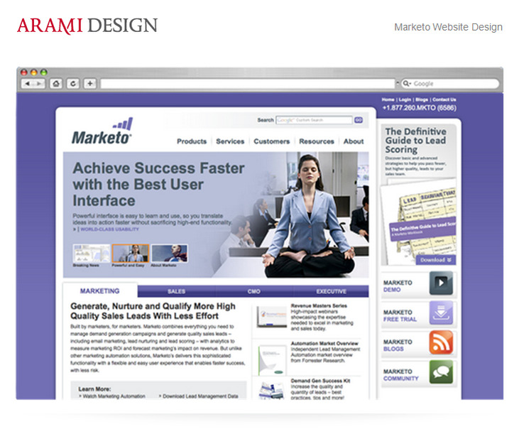 A great web design by Arami Design, San Francisco, CA: