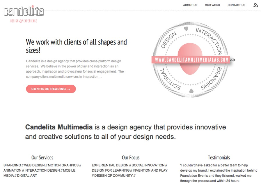 A great web design by Candelita Multimedia, New York, NY: