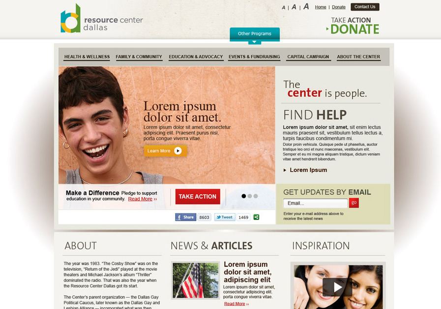 A great web design by Elevation - Web Solutions for Non Profits, Washington DC, DC: