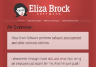 A great web design by Eliza Brock Software, Nashville, TN: