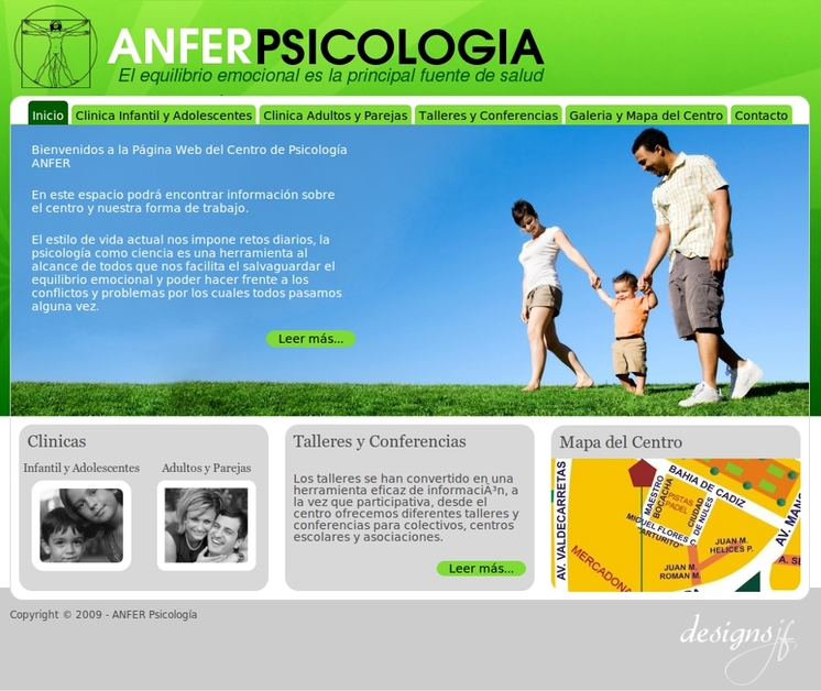 A great web design by Arroba Master, Cadiz, Spain: