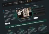 A great web design by Rafał Boro, Cracow, Poland: