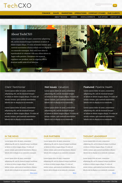 A great web design by Andrew Hwang, Minneapolis, MN: