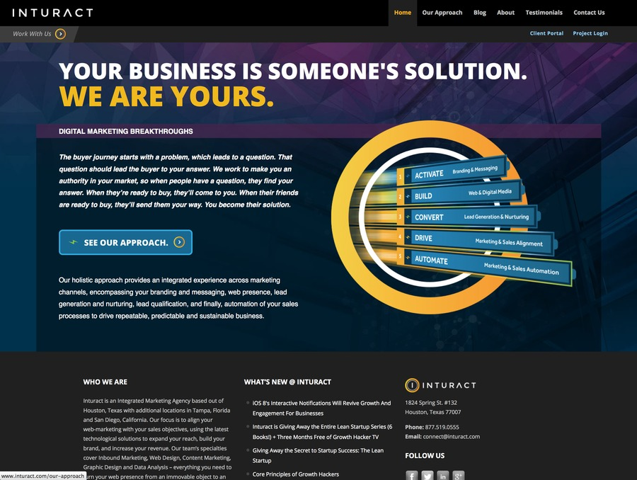 A great web design by Inturact, Houston, TX: Responsive Website, Marketing Website , Marketing , PHP