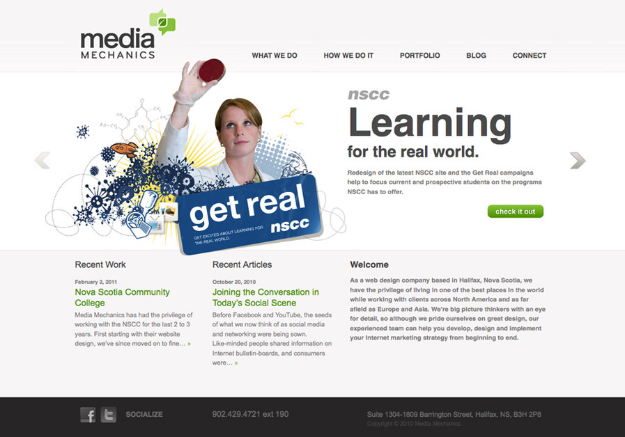 A great web design by Media Mechanics, Halifax, Canada: