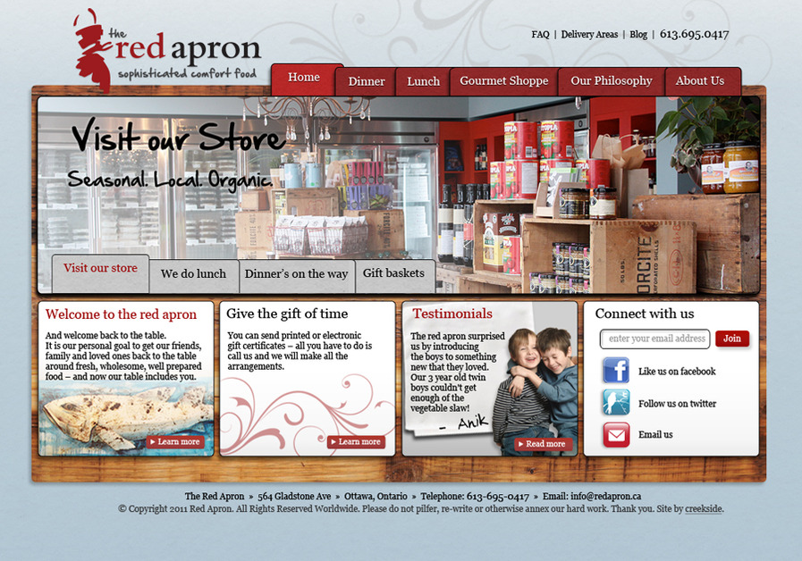 A great web design by Creekside Communications , Ottawa Ontario, Canada:
