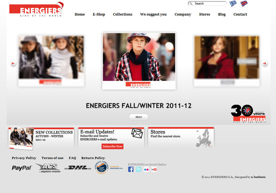 A great web design by e-leoforos, Thessaloniki, Greece: