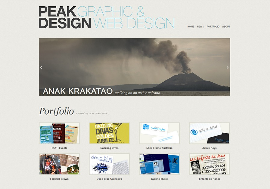 A great web design by Peak Design, Brisbane, Australia:
