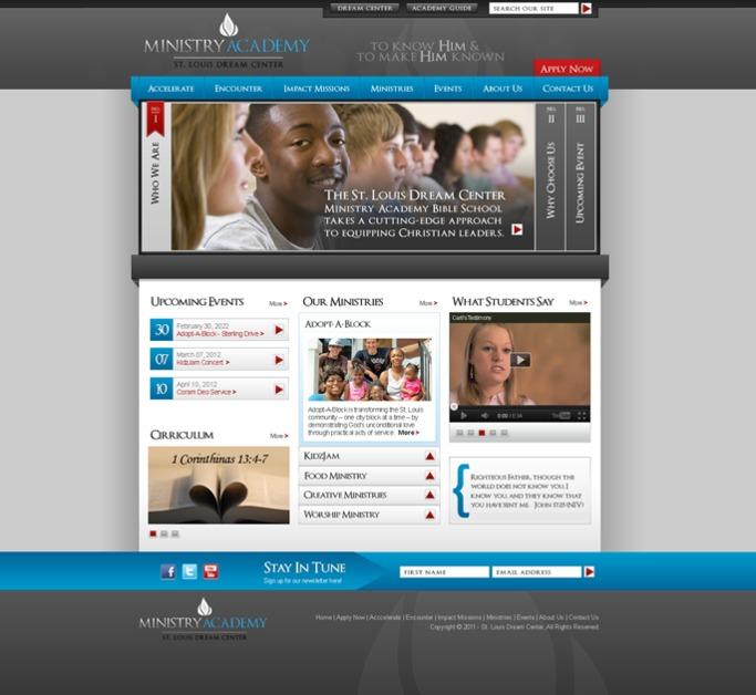 A great web design by Studio C5, St Louis, MO: