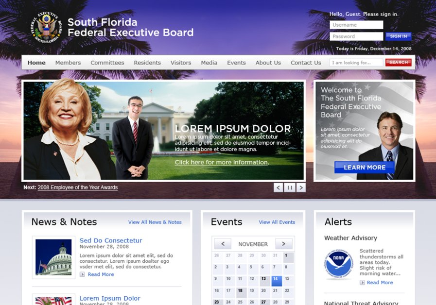 A great web design by Wayfinder, Miami, FL: