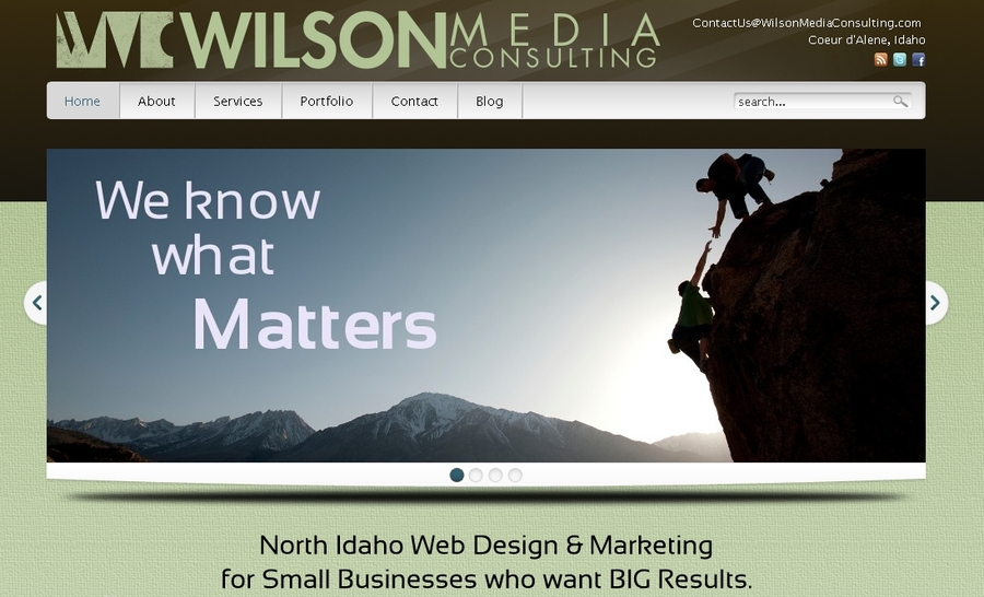 A great web design by Wilson Media Consulting, Coeur dAlene, ID: