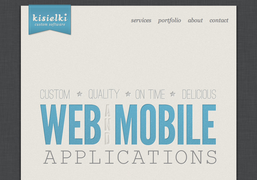 A great web design by kisielki.com, Warsaw, Poland: