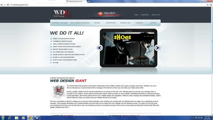 A great web design by Web Design Giant, Boston, MA:
