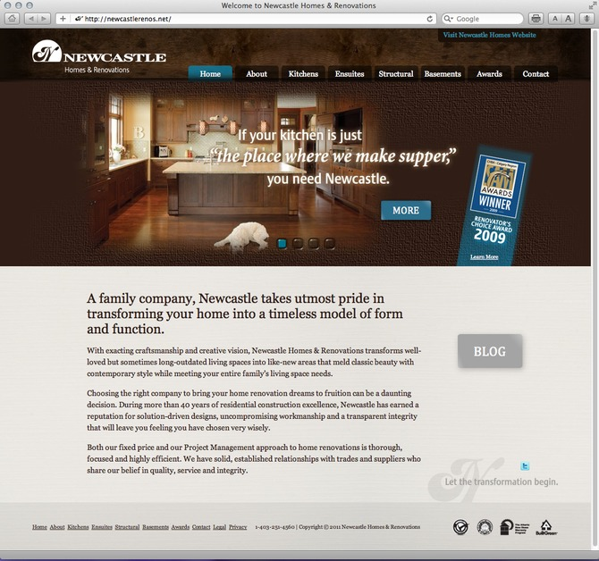 A great web design by Kayak Creative Services Inc., Calgary, Canada: