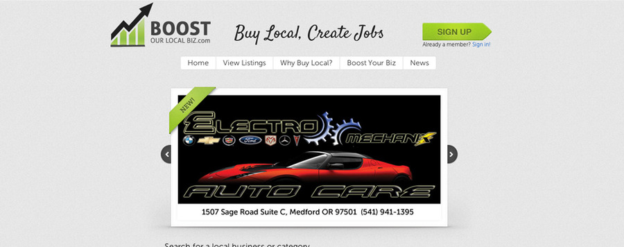 A great web design by 16bit Design, Medford, OR: